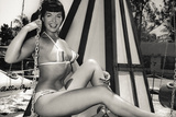 Bettie Page Swing Ride Poster Photo