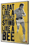 Muhammed Ali - Float Like a Butterfly Stretched Canvas Print