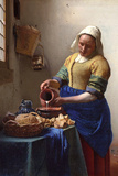 Johannes Vermeer The Milkmaid Plastic Sign Plastic Sign
