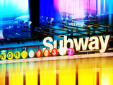 Urban Stretch Series, Fine Art, Subway, Colors, Times Square, Manhattan, New York City, US Photographic Print by Philippe Hugonnard