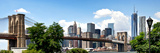 Panoramic Skyline of Manhattan, Brooklyn Bridge and One World Trade Center, New York City, US Photographic Print by Philippe Hugonnard