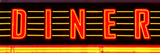 "Panoramic View, ""Diner"" Sign Illuminated, Manhattan, New York Photographic Print by Philippe Hugonnard"