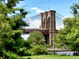 Brooklyn Bridge View of Brooklyn Park, Manhattan, New York, United States Photographic Print by Philippe Hugonnard