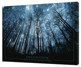 Imagination - Stars Stretched Canvas Print