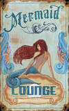 Mermaid Lounge Wood Sign Wood Sign