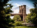 Brooklyn Bridge View of Brooklyn Park, Vintage Colors, Manhattan, New York, United States Photographic Print by Philippe Hugonnard