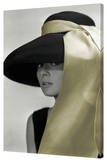 Audrey Hepburn - Gold Hat Stretched Canvas Print