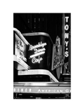 American Brooklyn Diner Cafe at Times Square by Night, Manhattan, NYC, White Frame Photographic Print by Philippe Hugonnard