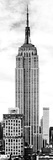 Vertical Panoramic, Black and White Photography, Empire State Building, Manhattan, New York -Us Photographic Print by Philippe Hugonnard