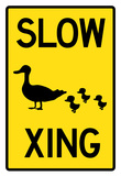 Duck Crossing Sign Poster Prints