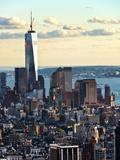 Landscape Sunset View, One World Trade Center, Manhattan, New York, United States Photographie par Philippe Hugonnard