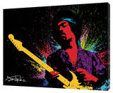 Jimi Hendrix - Paint Stretched Canvas Print