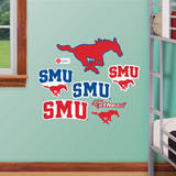 SMU Mustangs Team Logo Assortment Wall Decal Wall Decal