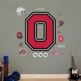Ohio State Buckeyes Block O Logo Wall Decal Wall Decal