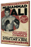 Muhammed Ali - Vintage Stretched Canvas Print