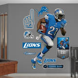 NFL Detroit Lions Reggie Bush Wall Decal Wall Decal