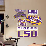LSU Tigers Team Logo Assortment Wall Decal Wallstickers