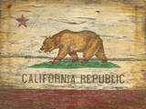 California Flag Wood Sign Wood Sign