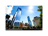 One World Trade Center (1WTC) and the 9/11 Memorial, Manhattan, New York, White Frame Photographic Print by Philippe Hugonnard