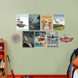 Disney Planes Vintage Poster Collection Wall Decal Mode (wallstickers)
