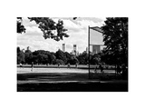 Baseball Game in Central Park, Manhattan, NYC, White Frame, Full Size Photography Photographic Print by Philippe Hugonnard