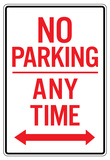 No Parking Any Time Double Arrow Sign Poster Posters