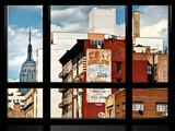 Window View, Special Series, Empire State Building View, Manhattan, New York Photographic Print by Philippe Hugonnard