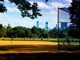 Baseball Game in Central Park, Manhattan, New York City, United States Photographic Print by Philippe Hugonnard