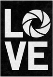Love Aperture B/W Photography Poster