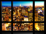 Window View, Landscape Manhattan City, Empire State Building, Manhattan, New York City Photographic Print by Philippe Hugonnard