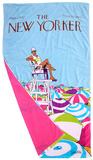 The New Yorker On Duty Beach Towel Towel by Charles Saxon