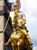 Equestrian Statue of Joan of Arc in the Square Pyramids, Paris, France Photographic Print by Philippe Hugonnard