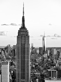 Empire State Building and One World Trade Center at Sunset, Midtown Manhattan, NYC Reproduction photographique par Philippe Hugonnard