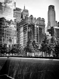 Architecture and Buildings, 9/11 Memorial, 1Wtc, Manhattan, NYC, USA, Black and White Photography Fotodruck von Philippe Hugonnard