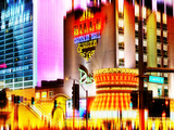 Urban Stretch Series, Fine Art, Flamingo Rd, Bill's Casino, Las Vegas, Nevada, United States Photographic Print by Philippe Hugonnard