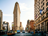 Vintage Colors Landscape of Flatiron Building and 5th Ave, Manhattan, New York City, United States Photographic Print by Philippe Hugonnard