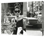 Audrey Hepburn - Window Stretched Canvas Print