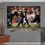 NFL New Orleans Saints Drew Brees Mural Wall Decal Wall Decal