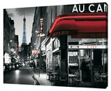 Rua parisiense Custom Stretched Canvas Print