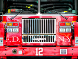 Fire Truck NYC, Manhattan, New York, United States Photographic Print by Philippe Hugonnard