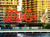 Pepsi Cola Bottling Sign, Long Island City, New York, United States, Colors Style Photographic Print by Philippe Hugonnard