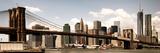 Vintage Panoramic, Skyline of NYC, Manhattan and Brooklyn Bridge, One World Trade Center, US Photographic Print by Philippe Hugonnard