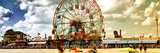 Panoramic View, Vintage Beach, Wonder Wheel, Coney Island, Brooklyn, New York, United States Fotografisk tryk af Philippe Hugonnard