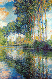 Claude Monet Poplars on the Epte Plastic Sign Plastic Sign by Claude Monet