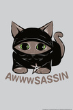 Awwsassin Kitten Ninja Snorg Tees Plastic Sign Plastic Sign by  Snorg