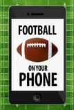 Football On Your Phone Humor Plastic Sign Plastic Sign