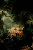 Jean-Honore Fragonard (The Swing) Plastic Sign Plastikschild von Jean-Honoré Fragonard