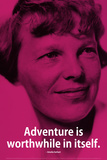 Amelia Earhart Adventure iNspire Quote Plastic Sign Wall Sign