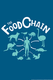 The Food Chain Snorg Tees Plastic Sign Wall Sign