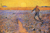 Vincent Van Gogh The Sower 3 Plastic Sign Plastic Sign by Vincent van Gogh